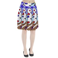 Abstract comic Pleated Skirt