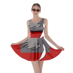Red abstraction by Moma Skater Dress