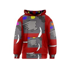 Red abstraction by Moma Kids  Pullover Hoodie