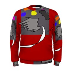 Red abstraction by Moma Men s Sweatshirt