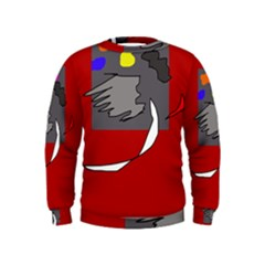 Red abstraction by Moma Kids  Sweatshirt