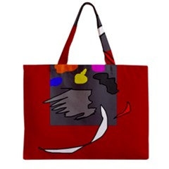 Red abstraction by Moma Zipper Mini Tote Bag