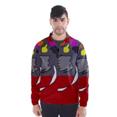Red abstraction by Moma Wind Breaker (Men)