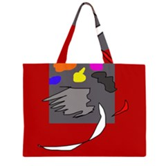 Red abstraction by Moma Large Tote Bag