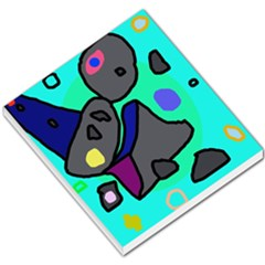 Blue comic abstract Small Memo Pads