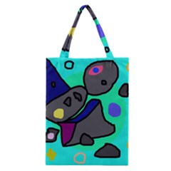 Blue comic abstract Classic Tote Bag
