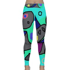 Blue comic abstract Yoga Leggings