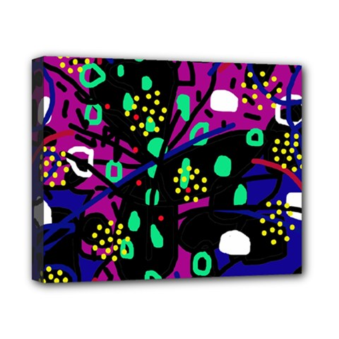 Abstract colorful chaos Canvas 10  x 8