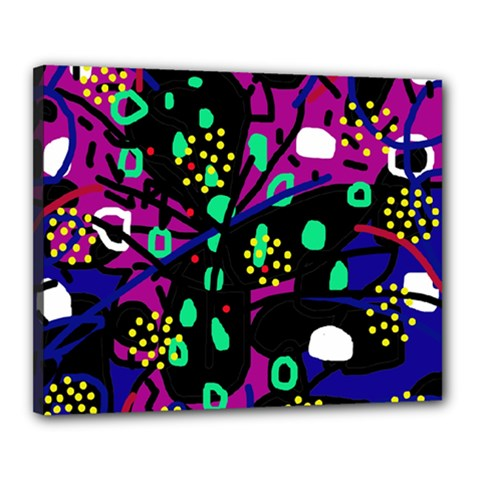 Abstract colorful chaos Canvas 20  x 16