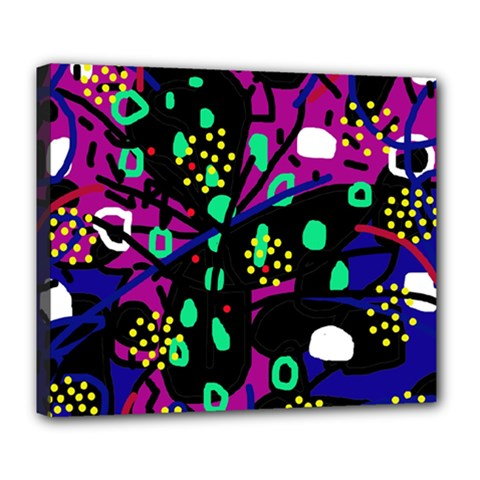 Abstract colorful chaos Deluxe Canvas 24  x 20