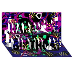 Abstract Colorful Chaos Happy Birthday 3d Greeting Card (8x4)