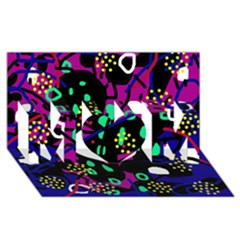 Abstract colorful chaos MOM 3D Greeting Card (8x4)
