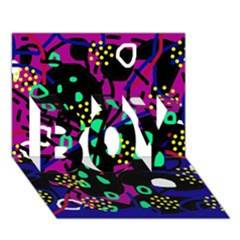 Abstract colorful chaos BOY 3D Greeting Card (7x5)