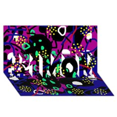 Abstract colorful chaos #1 MOM 3D Greeting Cards (8x4)