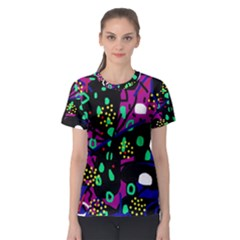 Abstract colorful chaos Women s Sport Mesh Tee