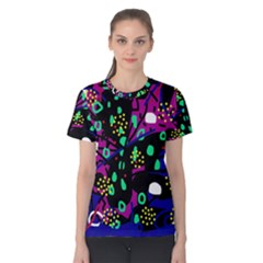 Abstract colorful chaos Women s Cotton Tee