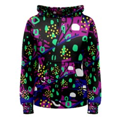 Abstract colorful chaos Women s Pullover Hoodie