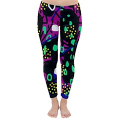 Abstract colorful chaos Winter Leggings