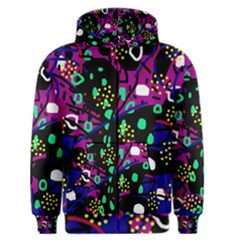 Abstract colorful chaos Men s Zipper Hoodie
