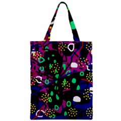 Abstract colorful chaos Zipper Classic Tote Bag