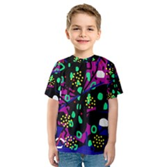 Abstract colorful chaos Kid s Sport Mesh Tee