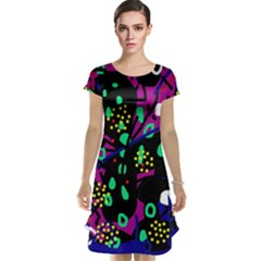 Abstract colorful chaos Cap Sleeve Nightdress