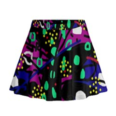 Abstract colorful chaos Mini Flare Skirt