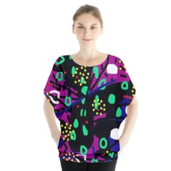 Abstract Colorful Chaos Blouse