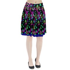 Abstract colorful chaos Pleated Skirt