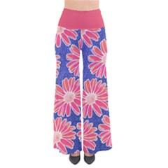 Pink Daisy Pattern Women s Chic Palazzo Pants