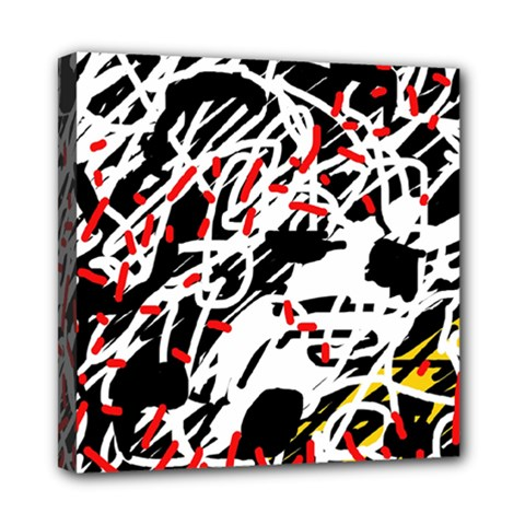Colorful chaos by Moma Mini Canvas 8  x 8