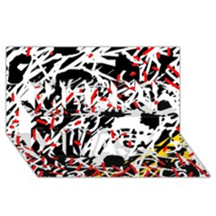 Colorful chaos by Moma Merry Xmas 3D Greeting Card (8x4)
