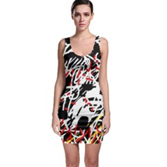 Colorful chaos by Moma Sleeveless Bodycon Dress
