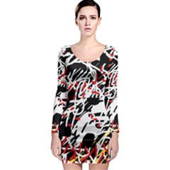 Colorful chaos by Moma Long Sleeve Bodycon Dress