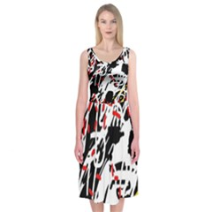 Colorful chaos by Moma Midi Sleeveless Dress