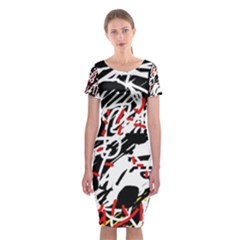 Colorful chaos by Moma Classic Short Sleeve Midi Dress