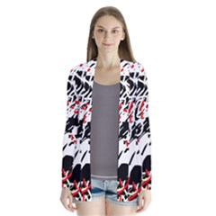 Colorful chaos by Moma Drape Collar Cardigan
