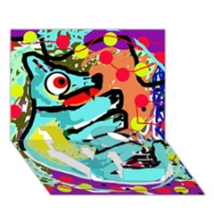 Abstract animal LOVE Bottom 3D Greeting Card (7x5)