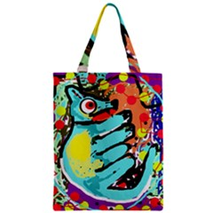Abstract animal Zipper Classic Tote Bag