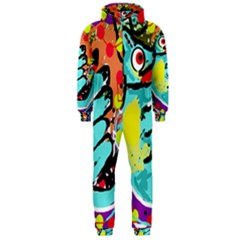 Abstract animal Hooded Jumpsuit (Men)