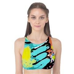 Abstract animal Tank Bikini Top