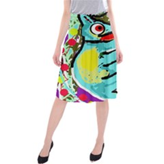 Abstract animal Midi Beach Skirt