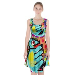 Abstract animal Racerback Midi Dress