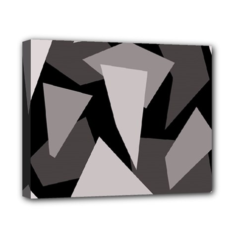 Simple gray abstraction Canvas 10  x 8