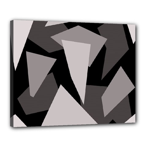 Simple gray abstraction Canvas 20  x 16