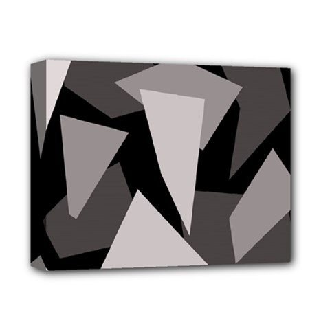 Simple gray abstraction Deluxe Canvas 14  x 11