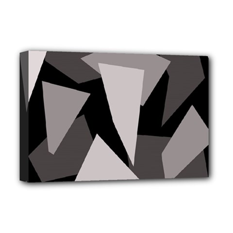 Simple gray abstraction Deluxe Canvas 18  x 12