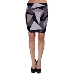 Simple gray abstraction Bodycon Skirt