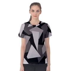 Simple gray abstraction Women s Cotton Tee