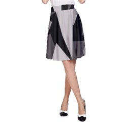 Simple gray abstraction A-Line Skirt